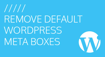 Remove Default WordPress Meta Boxes