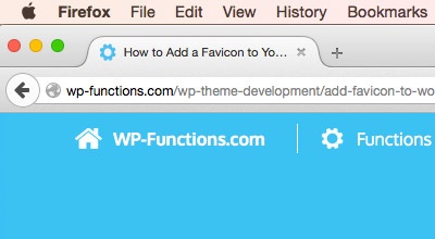 How to Add a Favicon to Your WordPress Theme