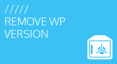 Remove WordPress Version from Header Function