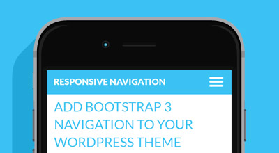 WordPress Theme Bootstrap Menus